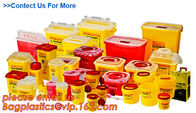 Yellow Plastic Medical Sharp Container for needles, Health and Medicals use disposable 5L Sharp container, sharp contain