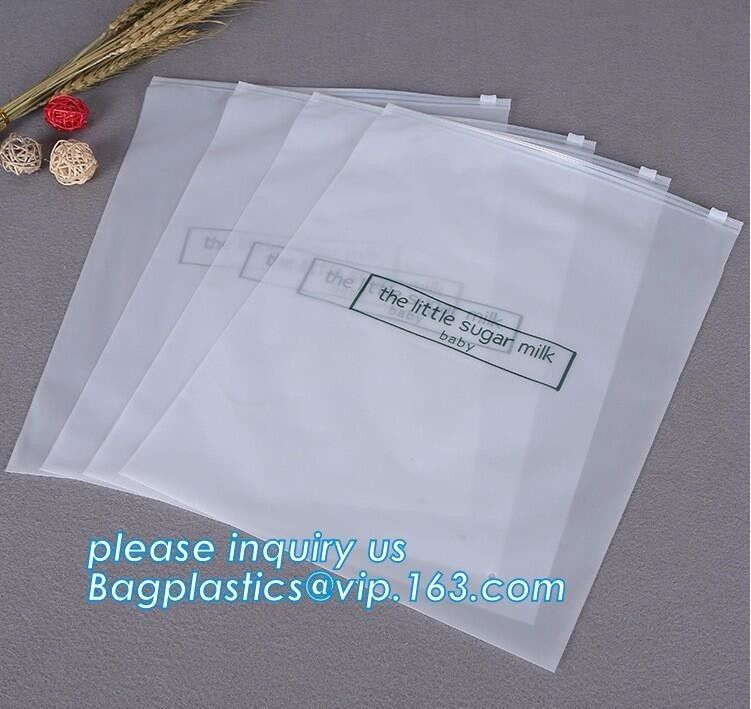 Bottom Gusset Slider Zipper Bags Garment Packaging Pouch Ziplockk Swimwear Clothing