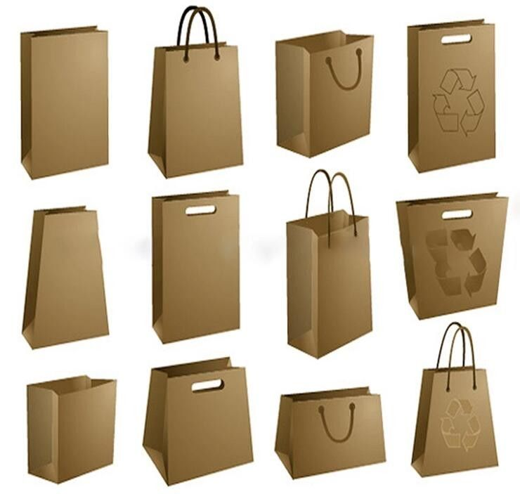 Luxury Matte Black Shopping Paper Bag UV Clothing Packaging